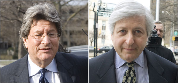 Garth H. Drabinsky, who served as the chief executive of the defunct Broadway production firm Livent, was sentenced to seven years in prison on Wednesday for defrauding the shareholders of more than 500 million Canadian dollars. His former business partner, Myron I. Gottlieb, received a six-year sentence. Image: Chris Young/Canadian Press